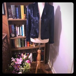 Blue velvet Banana Republic blazer
